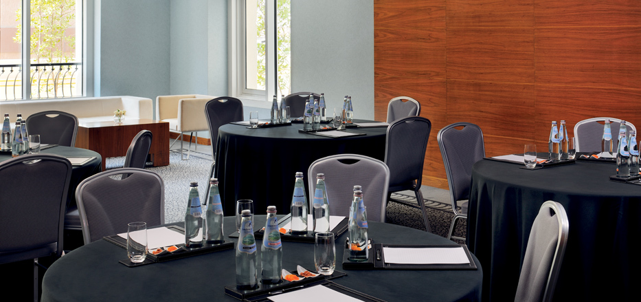 Round table set up at one of Business Hotels in Dubai