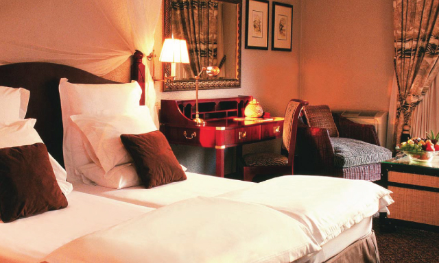 A double bed room at AVANI Gaborone Hotel & Casino