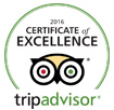 Trip advisor logo of certified excellence for 2016