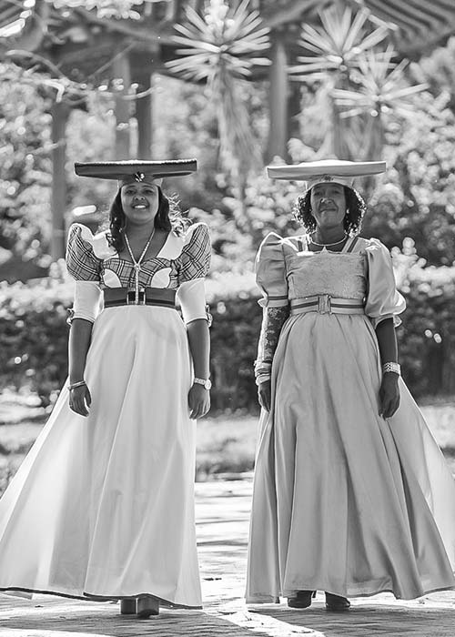 Two traditionally dressed ladies