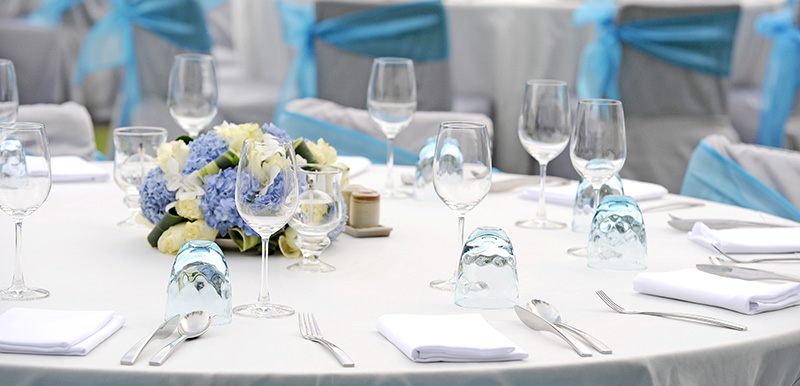 table setting for wedding in port stephens