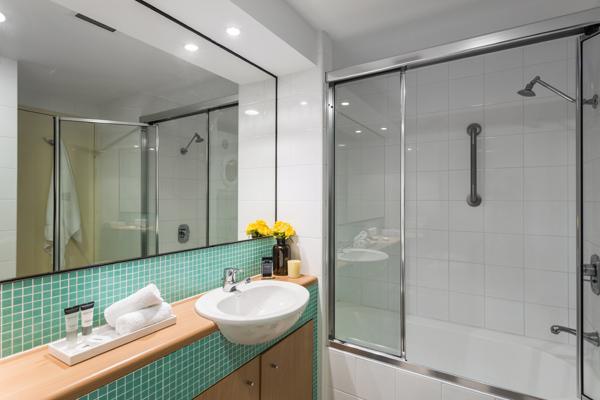 bathroom in bedroom oaks waterfront resort central coast resorts