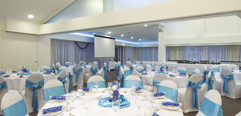 large function room for hire ready for event in Caloundra on Sunshine Coast, Australia