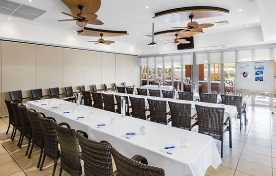 air conditioned conference and meeting room for hire with projector at Oaks Broome hotel in Western Australia