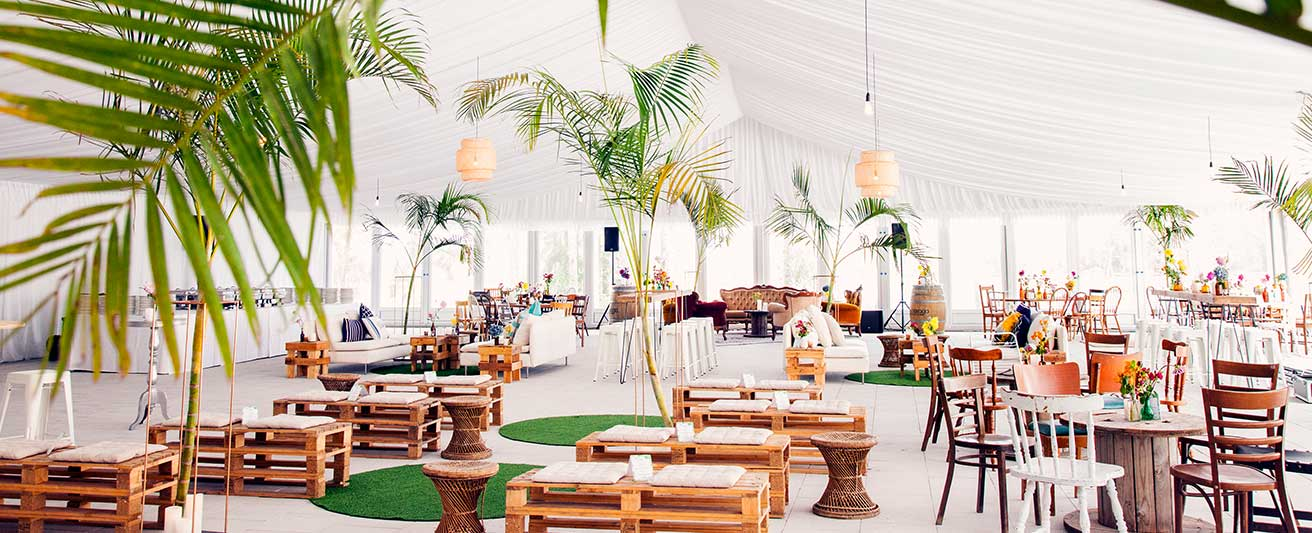 Cypress Lakes Resort events lagoon marquee jungle theme